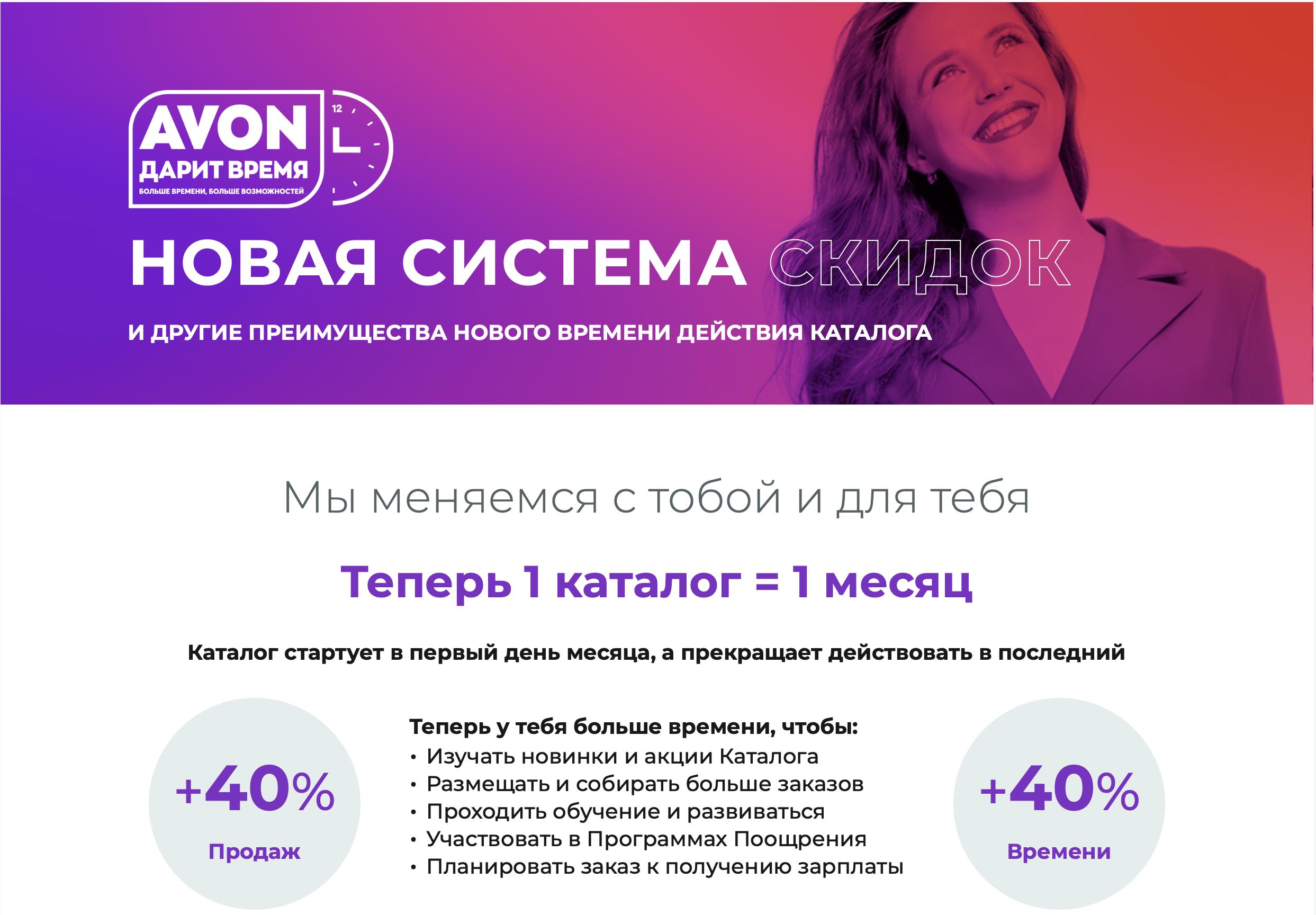 СИСТЕМА СКИДОК ЭЙВОН
